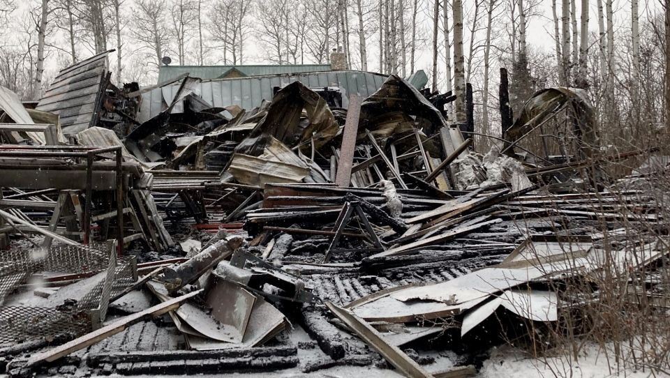 The garage one Beaver County resident is having to pay $62,000 in fire fighting fees for after it burned down in January of 2021 (Supplied/Courtesy Samantha Zemlak).