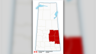 Environment Canada has upgraded its special weather statement to a snowfall warning for parts of southern Saskatchewan on Saturday.