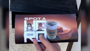 "The ""Spot a Hero"" campaign is providing front line workers with vouchers for two cinnamon buns and a coffee from the Green Spot Cafe. (Courtesy: Spot a Hero)"