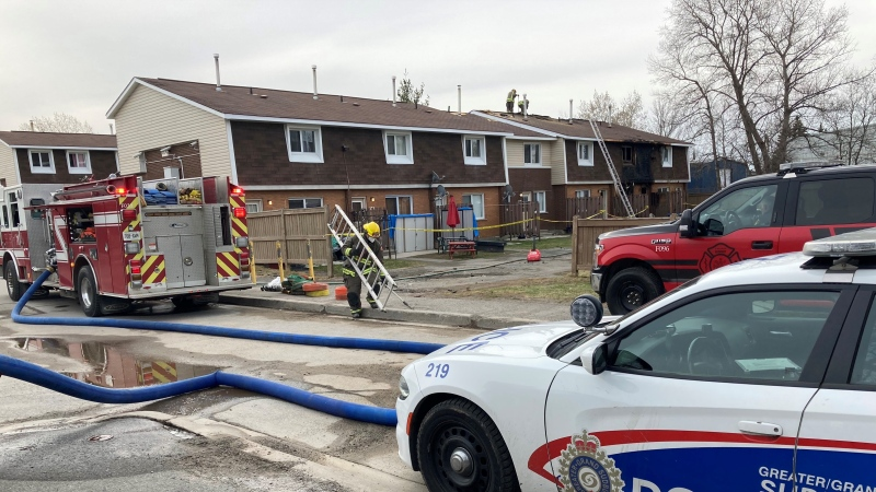 In a tweet just after 6:00 a.m. on Sunday, Deputy Fire Chief Jesse Oshell said crews arrived on-scene early this morning and later confirmed the Ontario Fire Marshal's office had been called to investigate. April 11/21 (Alana Everson/CTV News Northern Ontario)
