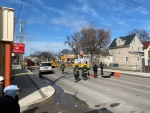 Convenience store fire on Ellice Ave., April 11 (Source: Zachary Kitchen, CTV)