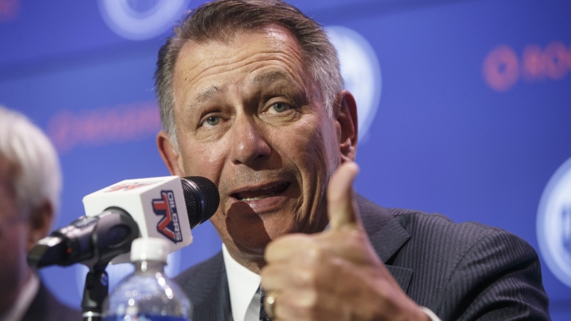 Edmonton Oilers general manager Ken Holland speaks at a press conference in Edmonton on Tuesday May 7, 2019. (THE CANADIAN PRESS / Jason Franson)