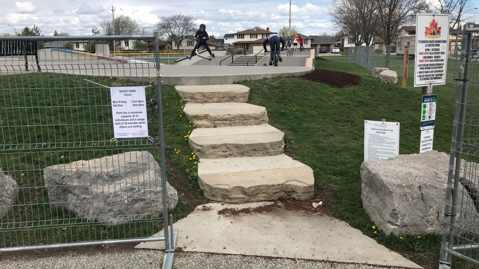 New rules take place at the Tecumseh skate park (Alana Hadadean / CTV News)
