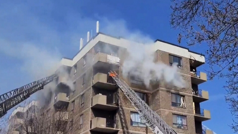 Fire at Montreal seniors complex