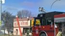 Fire on Ellice Avenue Sunday