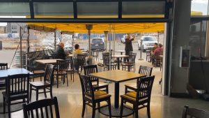 Edmonton restaurants are turning to patios to try and stay afloat amid restrictions. Sunday April 11, 2021 (CTV News Edmonton)