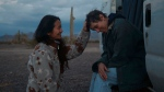"""In this file photo, Director Chloe Zhao, left, appears with actress Frances McDormand on the set of """"Nomadland."""" (Searchlight Pictures via AP, FIle)"""