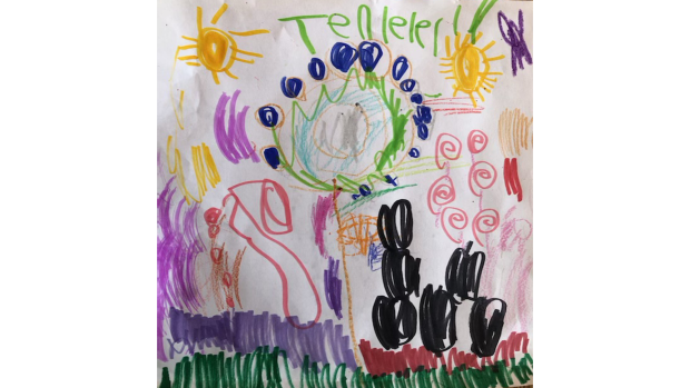 Spring flowers  - Tenley Barclay, 4 years old, St. Philips, Richmond