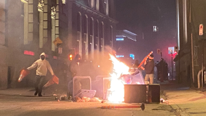 The aftermath of violent protests in Montreal