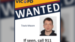Police are searching for Travis Moore, 28, who is wanted on a Canada-wide warrant for breaching his statutory release conditions: (Victoria Police)