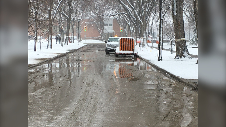 Water main break winnipeg