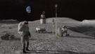 The Artemis program will land the first person of color on the moon, according to NASA. (NASA via CNN)