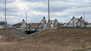 The Hazeldean Road bridge over the Carp River. (Ryan Arden / CTV News Ottawa)