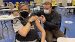 First responders get vaccinated in Surrey
