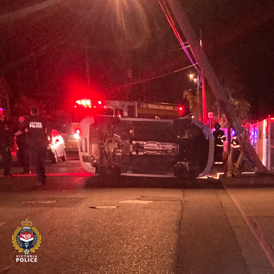 Police say they are investigating to see if speed or impairment were factors in the crash: (Victoria Police)