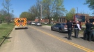 Police say multiple people were shot Monday at a high school in the east Tennessee city of Knoxville. (@Knoxville_PD/Twitter)