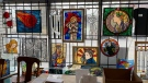 Stained glass art hangs at Northern Art Glass Inc. (Photo courtesy of Alexei Netchaev)