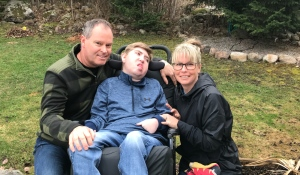 A North Bay family is frustrated with the provincial vaccine rollout plan, and say their 22-year-old disabled son has been 'skipped over.' (Alana Pickrell/CTV News)