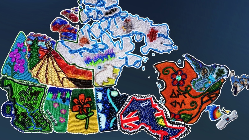 Beaded map connects Indigenous artists