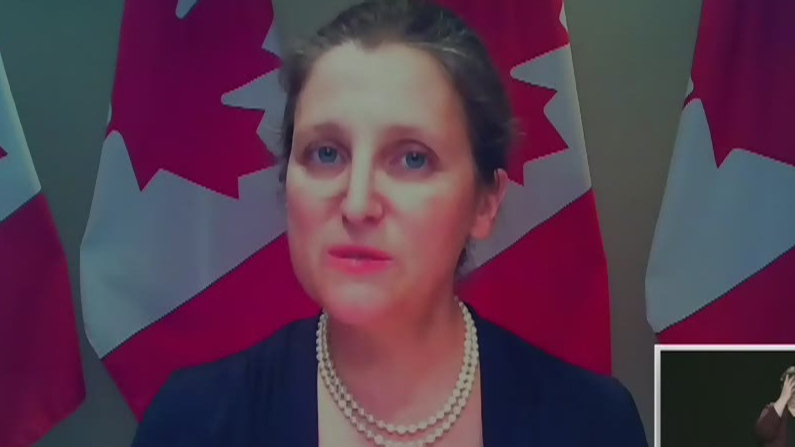 Freeland takes questions on aid package