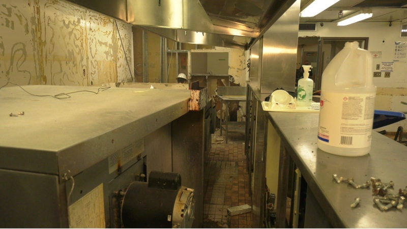 The kitchen in the Salvation Army ARC in Victoria is pictured. The facility is undergoing renovations, but community group HeroWork needs more funding for the project: (CTV News)