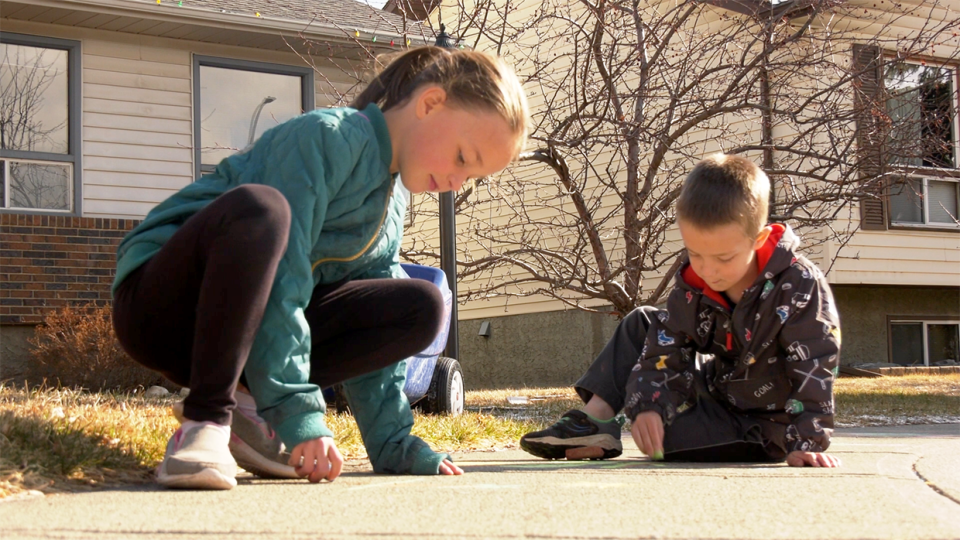 Declan and Finley Reid are a pair of budding Picassos from Cochrane, Alta. They're creating sidewalk art as part of an art education project launched by student Amy Brandt