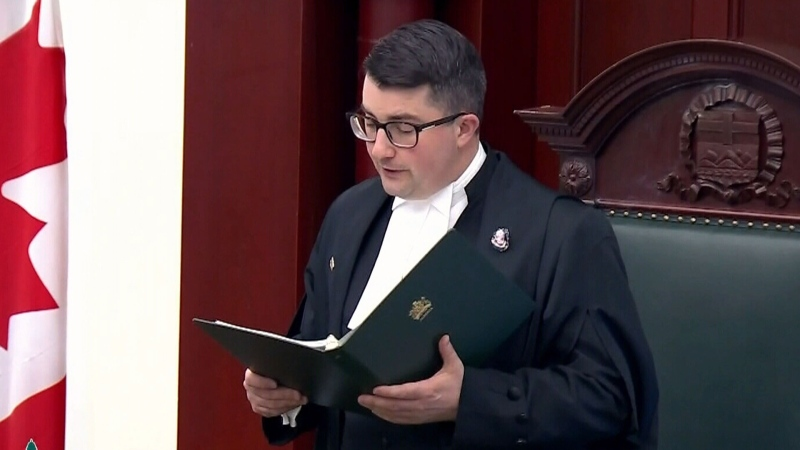 Alberta legislature speaker apologizes