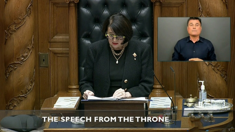 B.C. Throne speech covers health, affordability