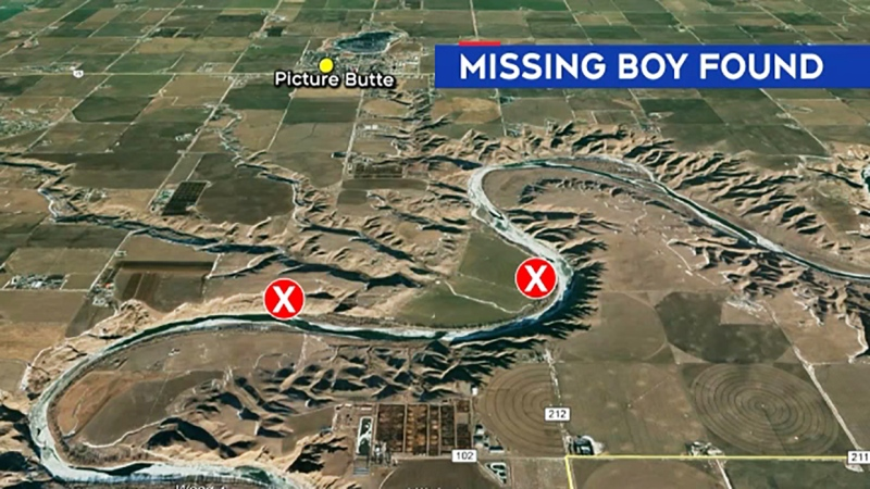 A missing five-year-old boy was located in Picture Butte, Alta., after rescuers were directed to a location by a woman who said she used the power of 'heart and mind' to find them