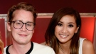 Macaulay Culkin and Brenda Song have welcomed a new baby named Dakota Song. Culkin and Song are shown at the Stand Up To Cancer telecast at the Barkar Hangar on Friday, September 7, 2018 in Santa Monica, California. (Kevin Mazur/Getty Images)