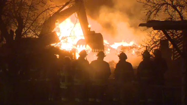 Fire officials in Wellesley say a barn on Lobsinger Line is considered a write-off following a fire on Monday evening.