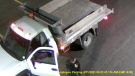 Guelph police are looking for a man after more than $10,000 worth of lumber was stolen from a local business early Monday morning. (Photo/Guelph Police Service)
