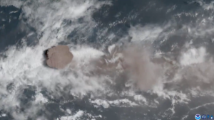 La Soufriere eruptions seen from space