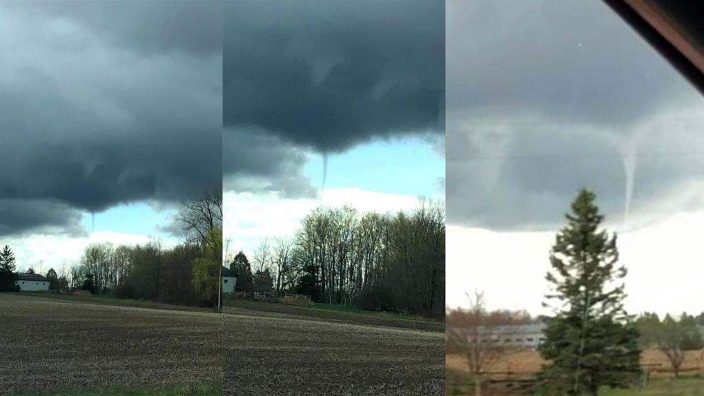 Cold core funnel clouds