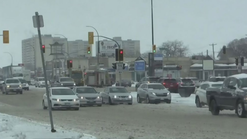Snow causes problems for drivers