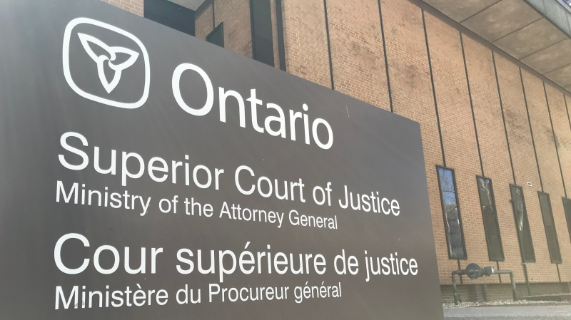Superior Court of Justice building in Windsor, Ont on Tuesday, April 13, 2021. (Michelle Maluske/CTV Windsor)