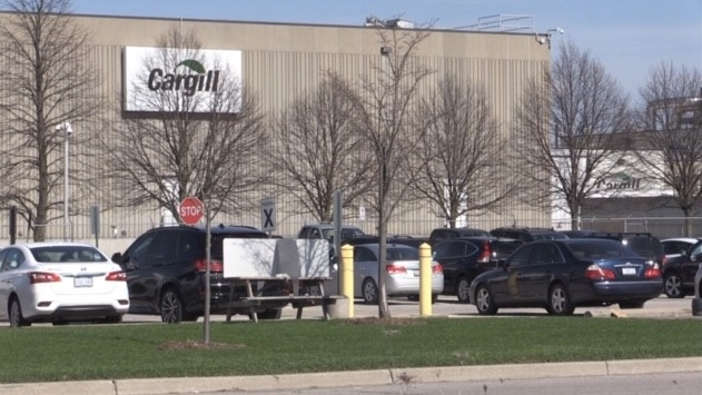 Cargill plant in London, Ont. on April 13, 2021. (Daryl Newcombe/CTV London)