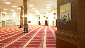 The Akram Jomma mosque would typically be packed with almost 2000 worshippers during Ramadan but only a fraction of them are allowed in because of COVID-19 protocols