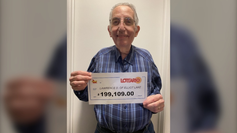 Lawrence De Young of Elliot Lake won $199,109 in the Dec. 26, 2020, Lottario draw, the Ontario Lottery Corp. announced Tuesday. (Supplied)