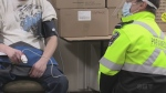 Simcoe County Paramedics offer vaccines to people at local shelters on Tues. April 13, 2021 (Roger Klein/CTV News)
