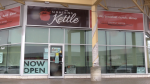 The Simmering Kettle in Barrie, Ont. opens for indoor dining, openly defying provincial COVID-19 restrictions on Tues. April 13, 2021 (Mike Arsalides/CTV News)