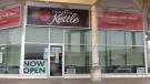 The Simmering Kettle in Barrie, Ont. opens for indoor dining, openly defying provincial COVID-19 restrictions on Mon. April 12, 2021 (Mike Arsalides/CTV News)