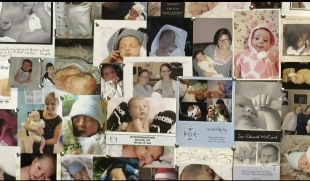 Laurentian University's four-year midwifery program, one of only three offered in the province and the only one offered in French, was one of the many cuts made during the university's restructuring announcement on Monday. (Photo from video)
