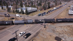 Rail crossing at 50 Street. Tuesday April 13, 2021 (CTV News Edmonton)