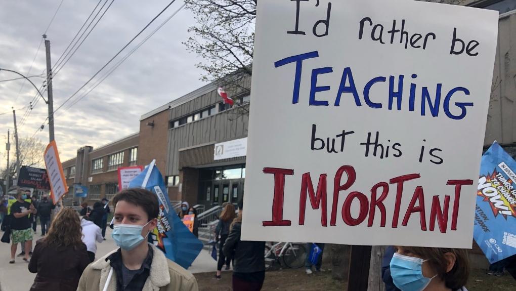 Teacher strike Quebec