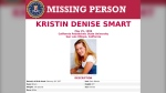 """FILE - This file missing person poster provided by the FBI is seeking information in the 1996 disappearance of California Polytechnic State University, San Luis Obispo, student Kristin Smart. A new search warrant was served Wednesday, April 22, 2020 at the Los Angeles home of a man who has long been described as a person of interest in the 1996 disappearance of California college student Kristin Smart, authorities said. The warrant served at the home of Paul Flores was seeking """"specific items of evidence,"""" the San Luis Obispo County Sheriff's Office said in a press release. It did not elaborate. Flores' home was among four locations in California and Washington state where search warrants were previously served in February. (FBI via AP, File)"""