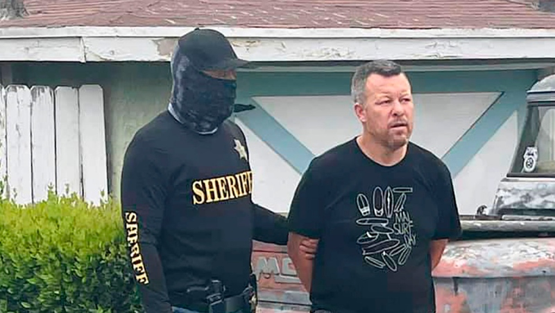 This photo provided by the San Luis Obispo County Sheriff's Office shows suspect Paul Flores who was taken into custody in the San Pedro area of Los Angeles on Tuesday, April 13, 2021, for the murder of Kristin Smart.