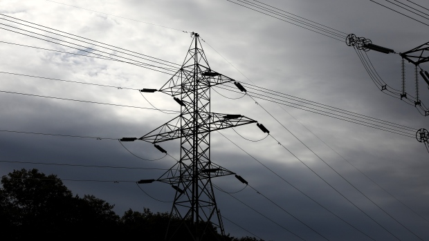 Hydro One electricity transmission lines are seen south of Chesley, Ont., on Sunday, Sept. 29, 2019. THE CANADIAN PRESS/Colin Perkel
