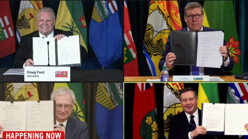Premiers participate in nuclear energy signing