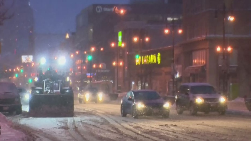 Cleanup continues following snowfall